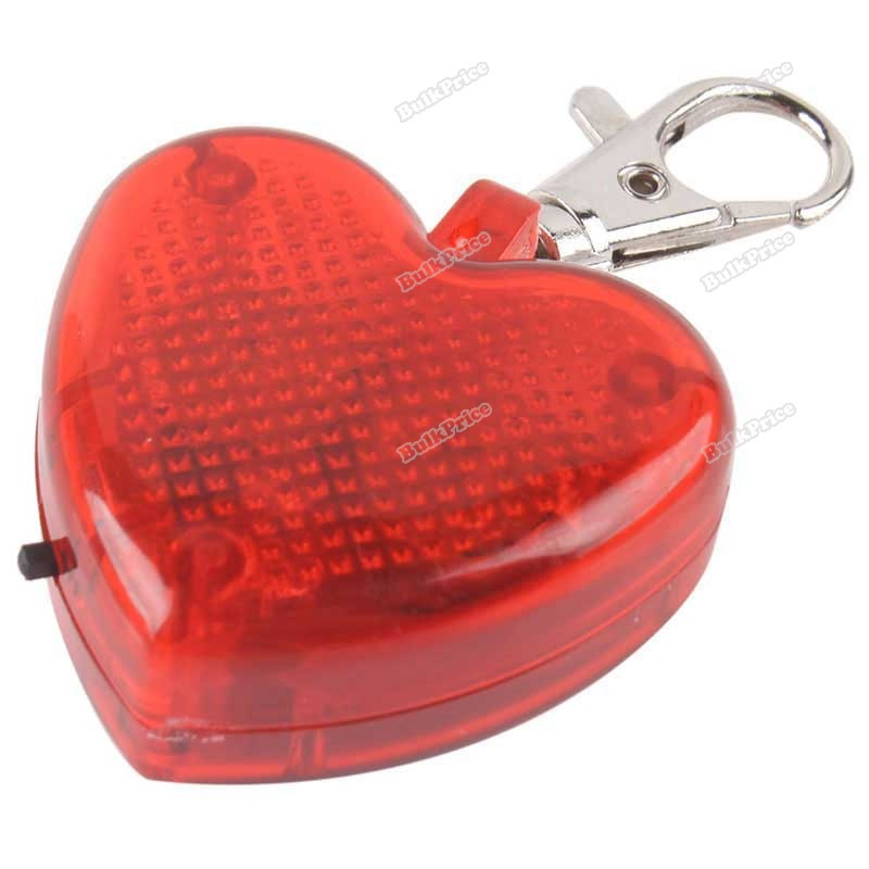 BulkPrice Shop Cute Heart Shaped Flashing LED Pet Dog Collar Pendant Clip Buckle Night Lighting(China (Mainland))