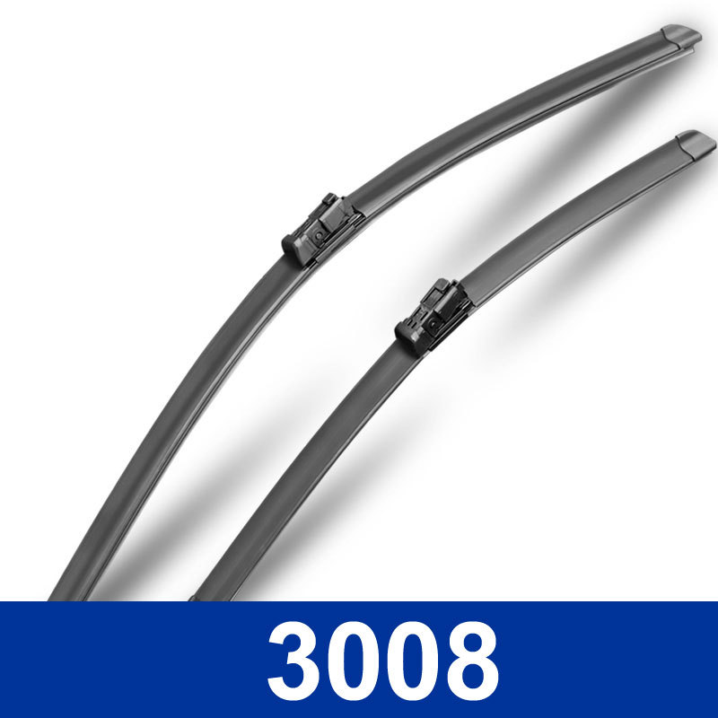 New styling Car Replacement Parts wiper blades Auto decoration accessories The front windshield wipers for Peugeot