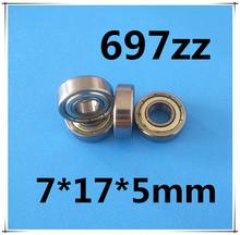 Buy 30pcs/Lot 697ZZ 697 ZZ 7x17x5mm Mini Ball Bearing Miniature Bearing Deep Groove Ball Bearing Brand New for $8.46 in AliExpress store