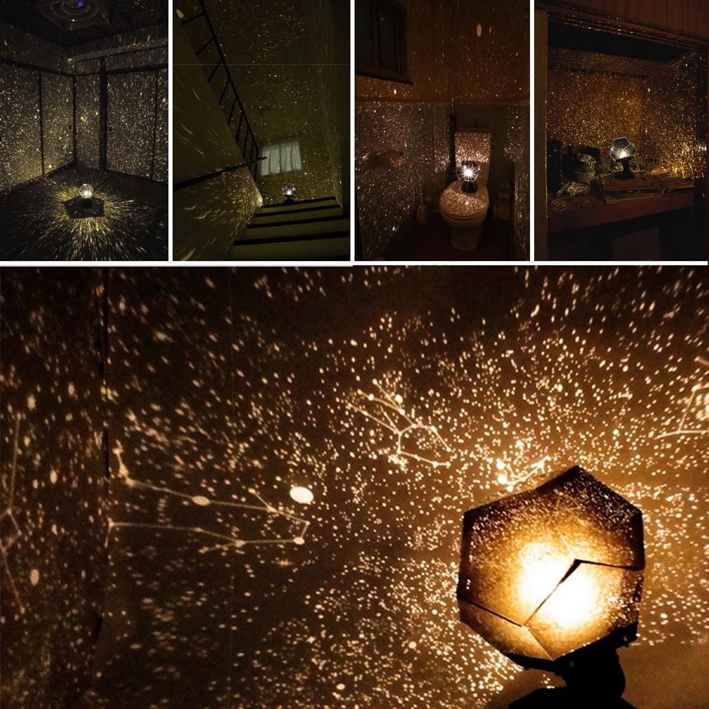 1pc New Celestial Star Projector Lamp Night Light Starry Sky Romantic Lamp Bedroom Decoration Lighting Gadget(China (Mainland))