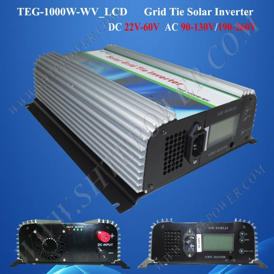 110v ac solar inverter 1000w,1KW grid connected inverter,on grid tie solar inverter,24vdc to 120vac 220vac inverter(China (Mainland))