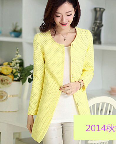 New Fashion Elegant Temperament Slim Plus Size Trench Coat Single Breasted 5 Colors Available Ladies Work Wear High Street Coat(China (Mainland))