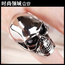 Men's titanium steel ring skull ring Korea personalized jewelry punk retro Men Ring Free shipping (China (Mainland))