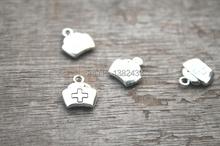 Buy 30pcs--Nurse cap Charms, Antique Tibetan Silver Tone 2 Sided Nurse cap charm pendants 12x13mm for $2.14 in AliExpress store