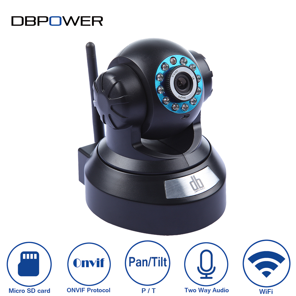 DBPOWER 720p Wireless IP Wifi Camera HD Security Cameras 2Way Audio Pan/Tilt IR-CUT Night Vision Motion Detection DDNS P2P H.264 - Trusted Link store
