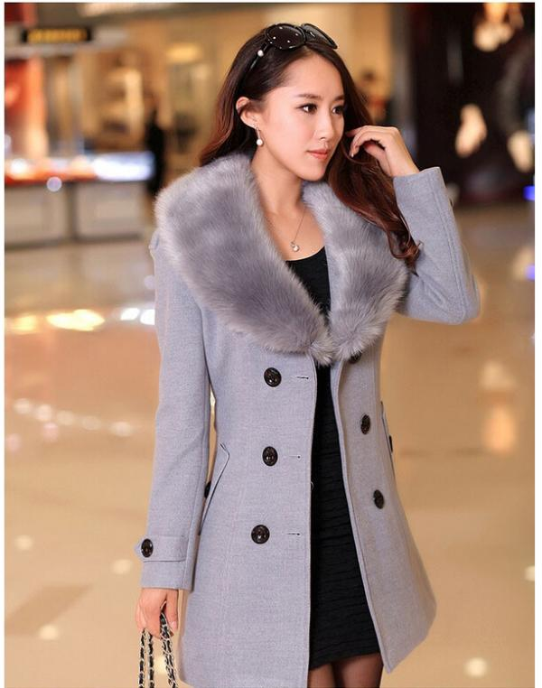 Ladies Winter Coat Fur Collar | Fashion Women's Coat 2017