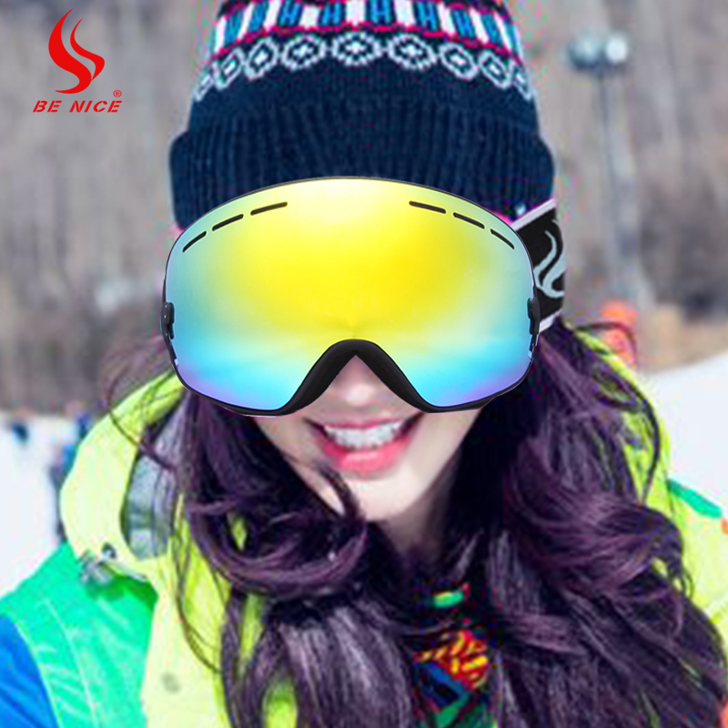 Be Nice Brand Outdoor Master Ski & Snowboard Goggles with Detachable Dual Layer Anti-Fog Double Lens Snow-3100 skiing eyewear(China (Mainland))