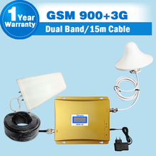 HOT SALE GSM 3G Cellular Signal Repeater GSM 900 3G UMTS 2100 Dual Band Cellphone Amplifier 900mhz 2100mhz 20dBm Mobile Boosters(China (Mainland))