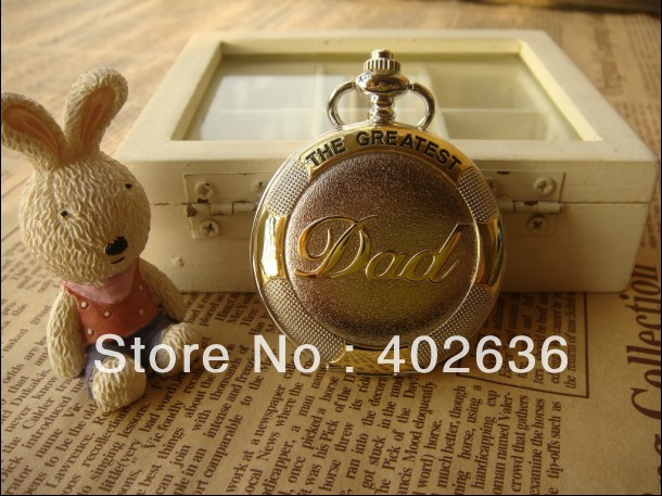 2012 hotsale HB0333 D4.5cm antique pocket watch DAD pocket watch with chain free shipping<br><br>Aliexpress