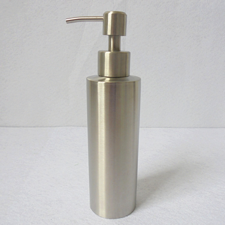 1pc 304 stainless steel liquid soap dispenser hand for Bathroom bottles
