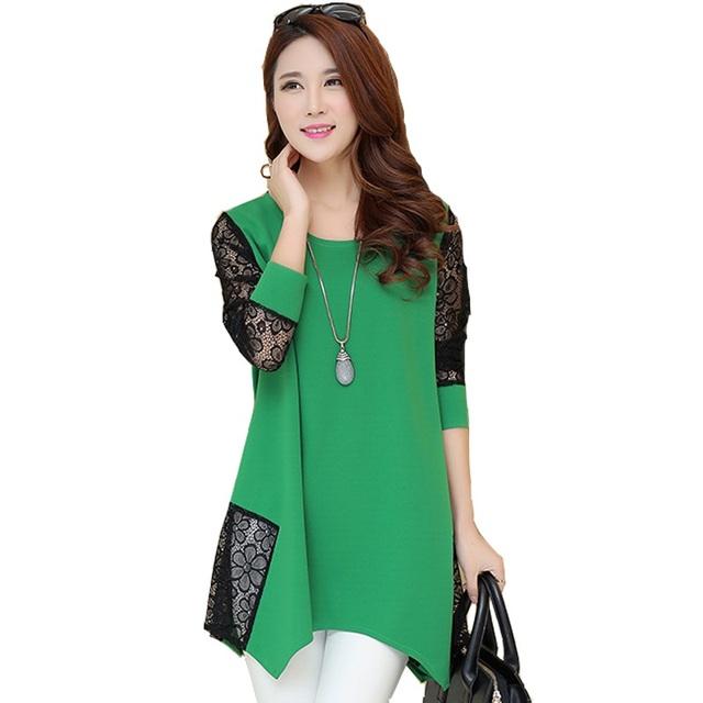 2015 мода высокое качество с длинными рукавами рубашки винтаж блузка Большой размер ...