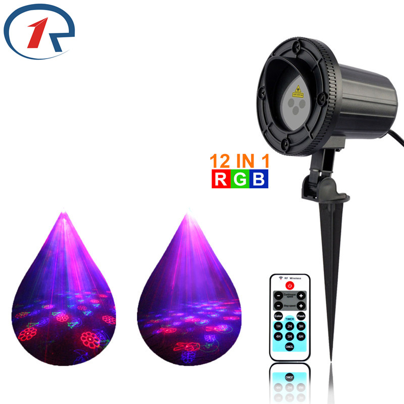 ZjRight IR Remote 12 patterns Red Green Blue Laser Stage Light Outdoor gala party effect light KTV bar dj disco projection light(China (Mainland))