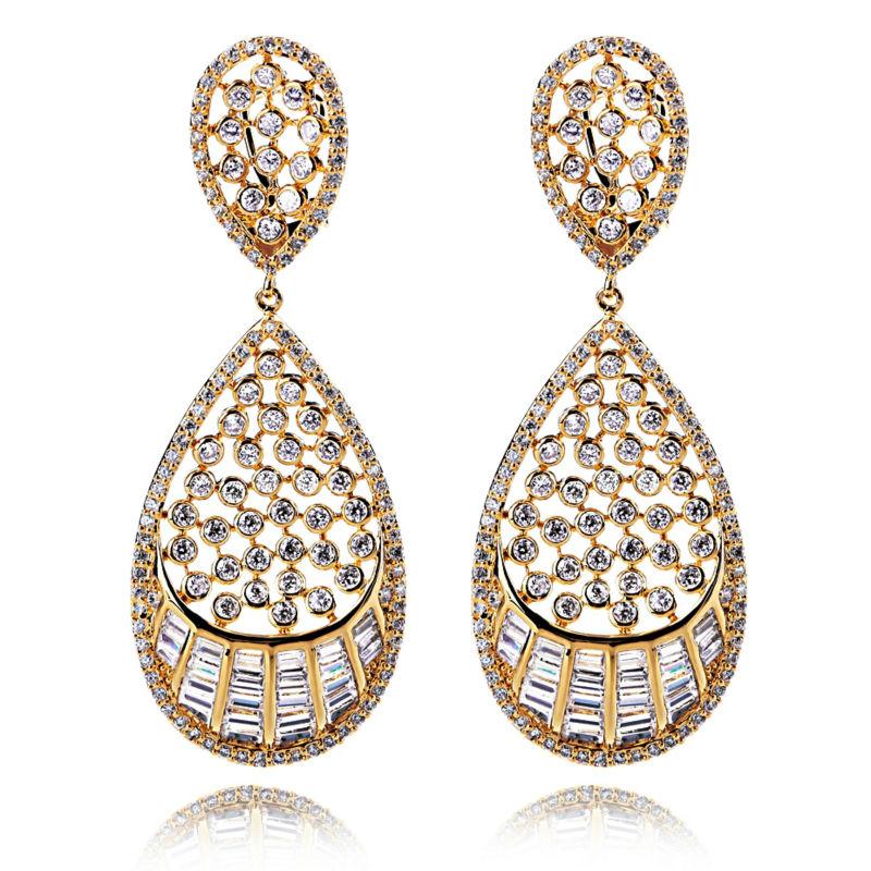 New LookWomen Crystal Earrings AAA Cubic Zirconia Drop Earrings 330 pcs of CZ Cadmium Free Free Shipping<br><br>Aliexpress