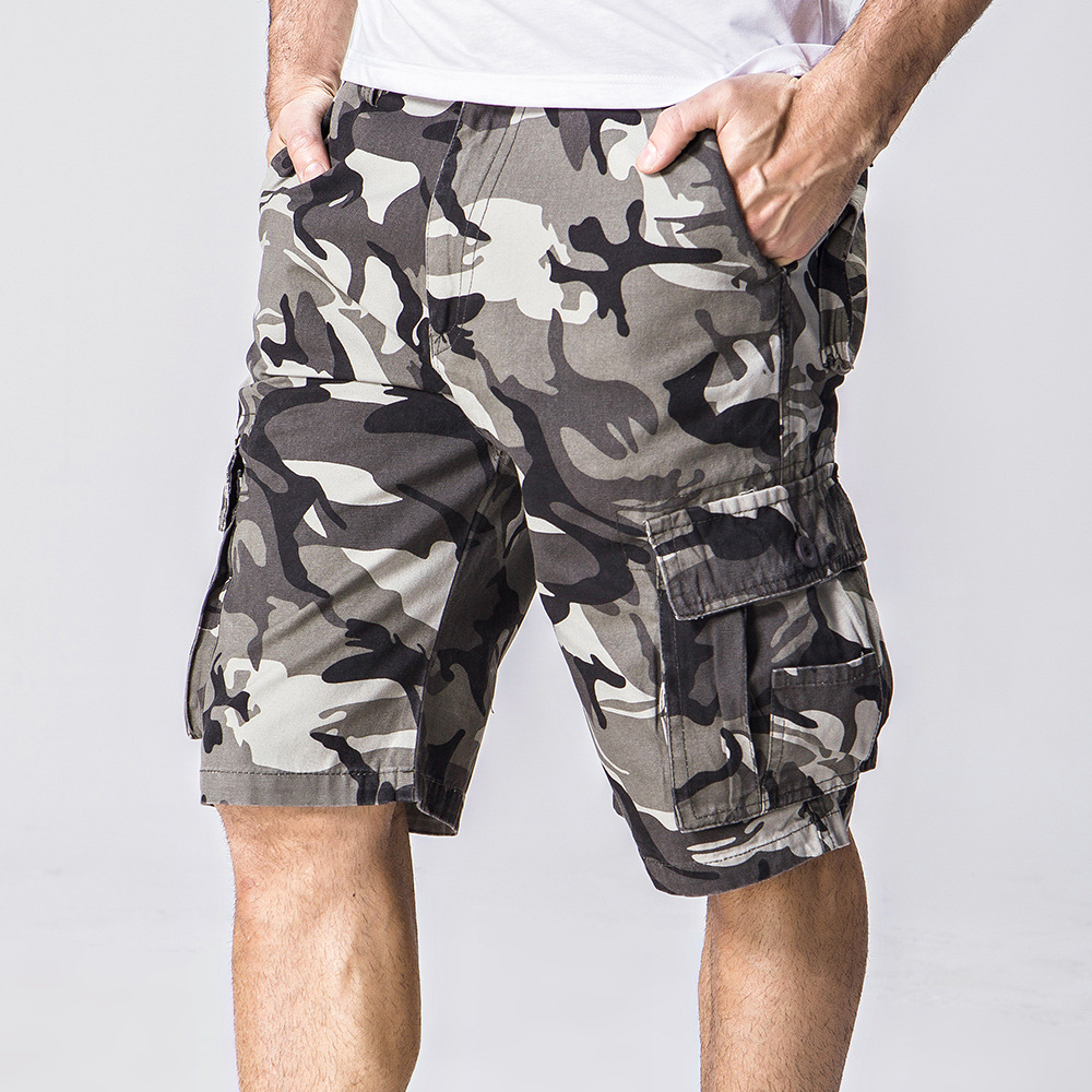 2017 Men'S Loose Gym Camoflague Shorts Men Homme Running Mens Casual Multi-Pocket Basketball Short surf cargo shorts Top Quality(China (Mainland))
