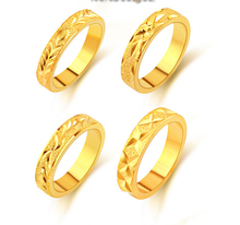 Promotion 24k gold ring engagement ring for men women couple jewelry wholesale 5mm the lord of the ring (China (Mainland))