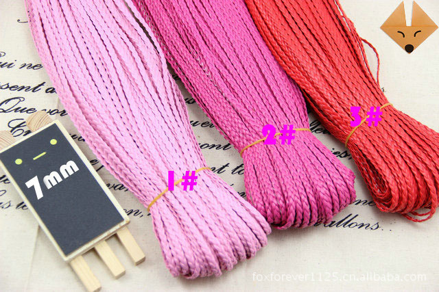 Hot Multi Color 5mm Flat PU Leather Cord Braided 10yards/pcs 5pcs/lot Polyester Braided Cord DIY Cords Jewelry Findings ds423(China (Mainland))
