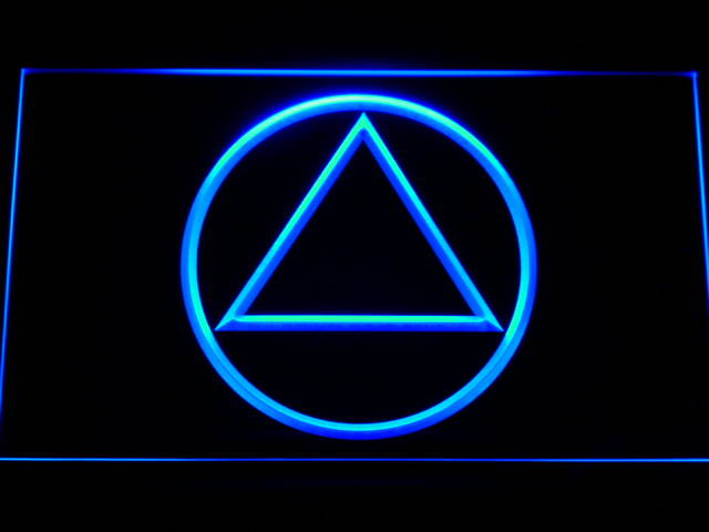 a213 Alcoholics Anonymous AA LED Neon Sign with On/Off Switch 7 Colors to choose(China (Mainland))