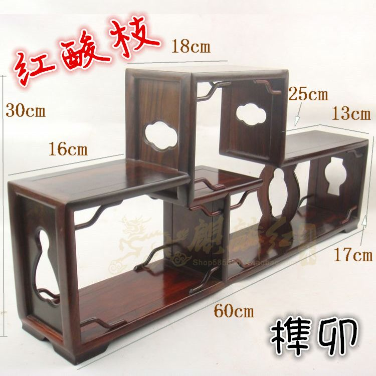 The special offer of modern Chinese red wood shelf display cabinet curio antique rosewood frame tenon(China (Mainland))