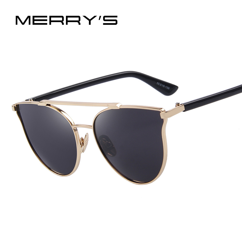 MERRY'S Fashion Women Cat Eye Sunglasses Women Classic Double-Bridge Shades UV400 S'8092(China (Mainland))