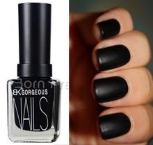 1 Bottle 15ml Matte Pure Black Color Dull Nail Polish Nail Enamel Nail Art Polish Nail Decoration(China (Mainland))