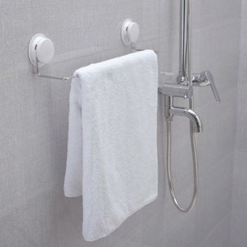 Hot Sale ! Suction Cup Hook Towel Rack Stainless Steel Bath Accessories  ---FREEE SHIPPING