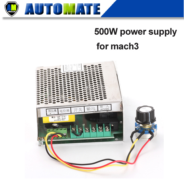 500w CNC air milling spindle Power Supply 220v 110v speed control (Mach 3) 0.5kw ER11 Motor A018B - AUTOMATE store