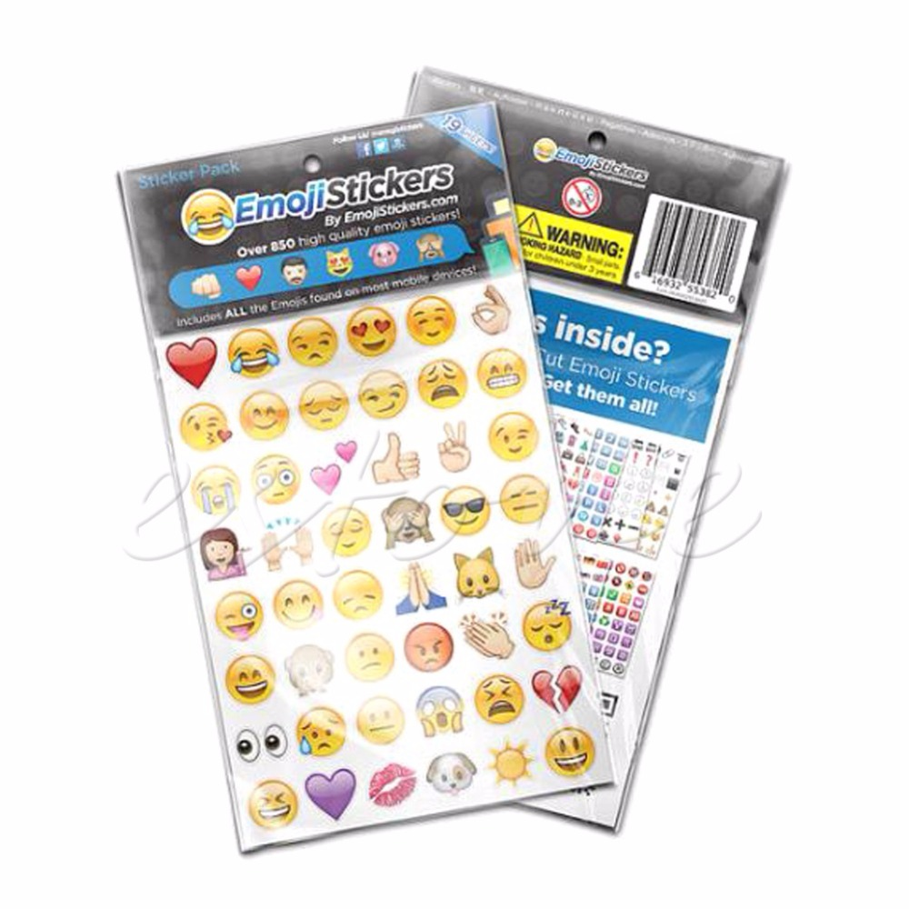 Cute Emoji Sticker Pack 912 Die Cut Stickers for iPhone, Instagram & Twitter Large Viny(China (Mainland))