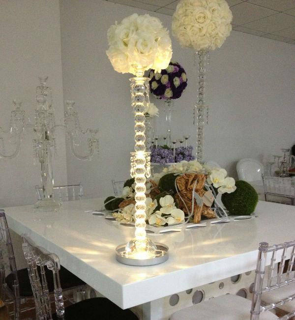 10pcs Lot Crystal Centerpieces 8inch Led Vase Light