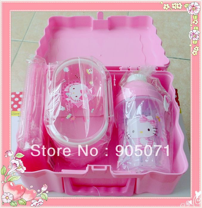 Hot sale, factory price, student's lunch box set , include double pcs lunch box, water bottle(China (Mainland))