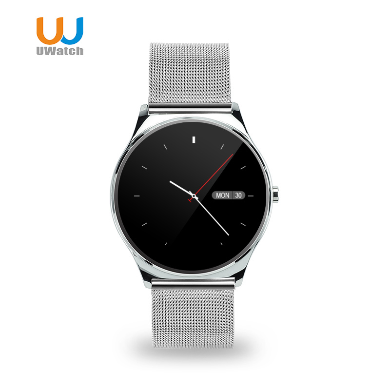 UWATCH US03 New 0.98mm Round Screen Smart Watch Bluetooth Heart Rate Monitor Smartwatch Intelligent For IOS Android PK K88H KW88(China (Mainland))