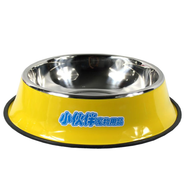 Stainless steel paint series dog bowl cat bowl multi-color small large dogs(China (Mainland))