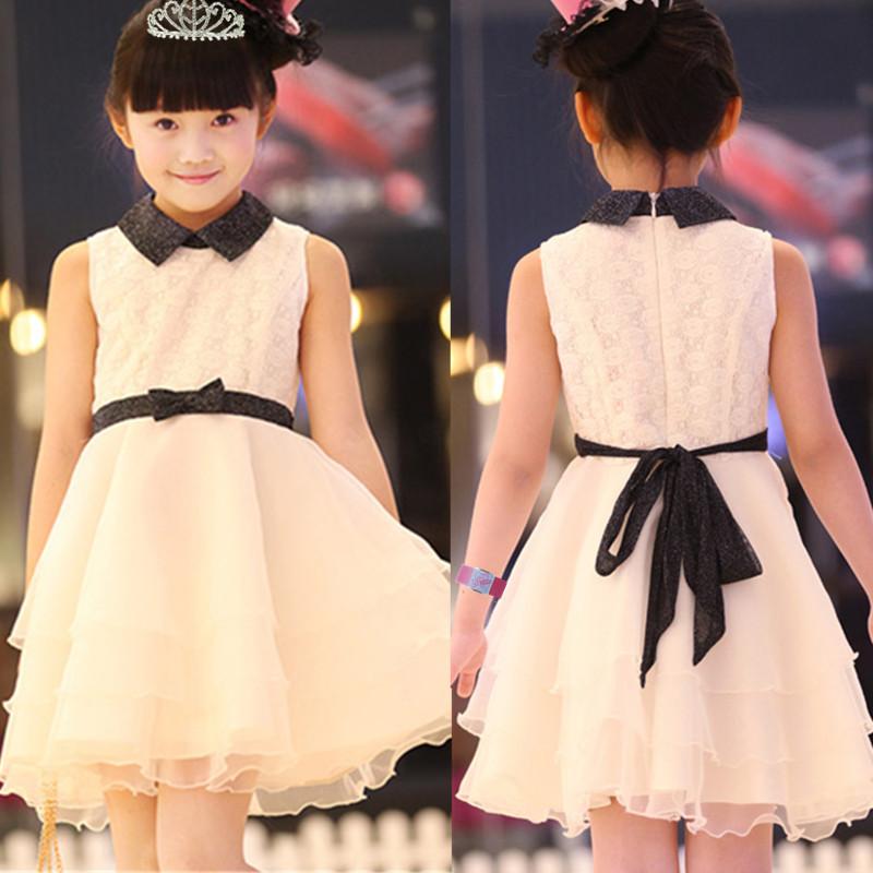 2014 New Spring girls dress Princess wedding dresses Retail Children Clothes Free Shipping(China (Mainland))
