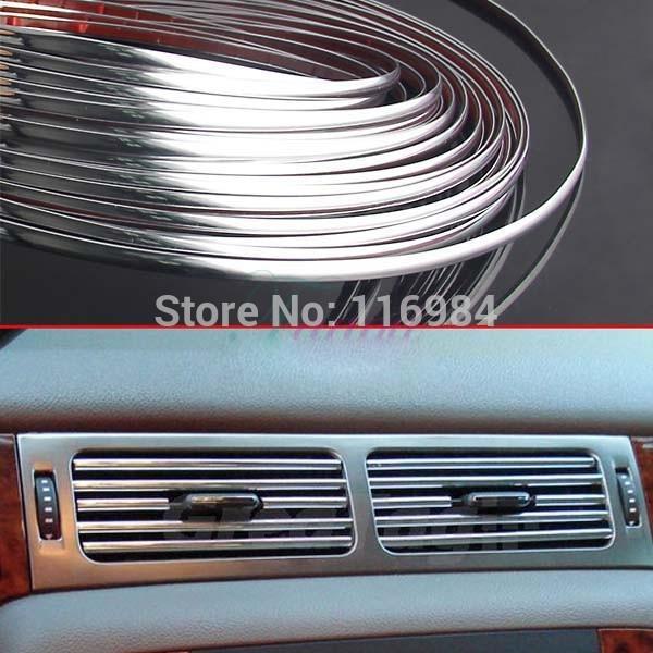 3Meter x 6mm DECORATION CHROME SILVER MOULDING TRIM CAR BUMPER PROTECTOR STRIP(China (Mainland))