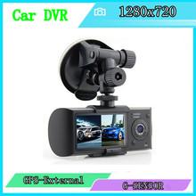 Original2.7inch Dual Lens Car DVR X3000 R300 Dual with GPS G-Sensor Camcorder 140 Degree Wide Angle Car DVR Camera Recorder(China (Mainland))
