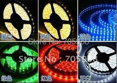 7 Color Remote control 5M 300LED SMD1210 Waterproof LED Flexible Strip lights Car Truck Boat Flex LED Strip Decoration Lights(China (Mainland))