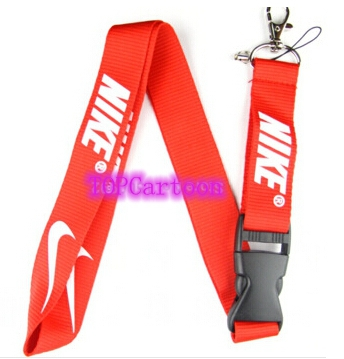 New 10 Pcs Popular Logo Red Lanyard with Lobster Clasp Fit Key ID Mobile Cell Phone Keychain DH095(China (Mainland))