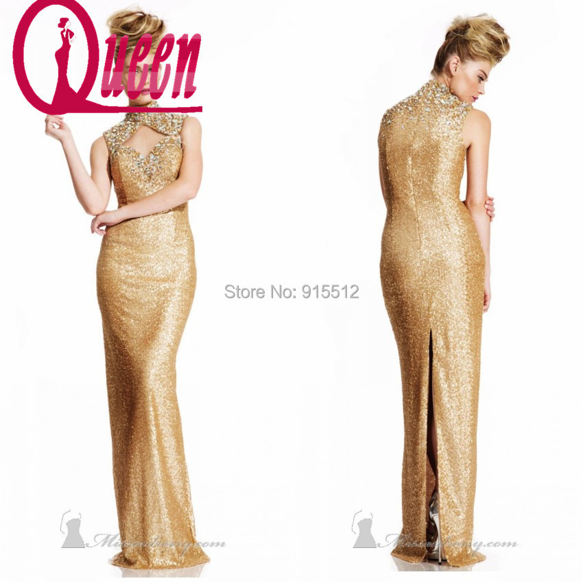 Cheap Shiny Dresses Shiny Gold Prom Dress