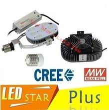 Retrofit Kits Led Light E40 E39 E27 E26 60W 100W 120W 150W LED Street Lights CREE Chip MeanWell Driver AC 110-277V(China (Mainland))