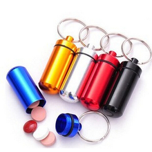 1PCS Outdoor Survival Waterproof Aluminum Medicine Bottles Mini Pocket Pill Bottle Box First Aid Kit EDC Gear Camping Equipment