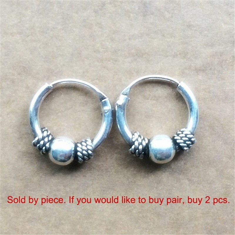 Thailand sterling silver mini hoops-8
