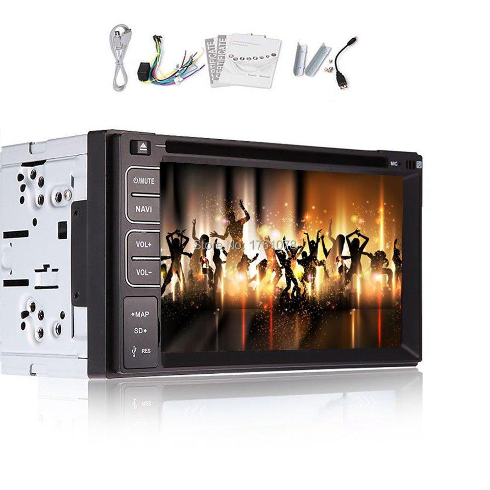 Head Unit 6.2 inch Bluetooth touchscreen In Dash 2 din HD Car Radio Stereo DVD Player PC Bluetooth iPod Video USB/SD Non-GPS(China (Mainland))