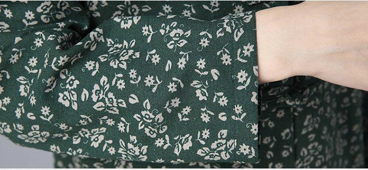 Скидки на Женщины Зима Осень Цветочным Принтом Лайнер Стоять Воротник Длинный Жакет Пальто Красный Синий Зеленый Теплый Флис Верхняя Одежда Женский Пальто