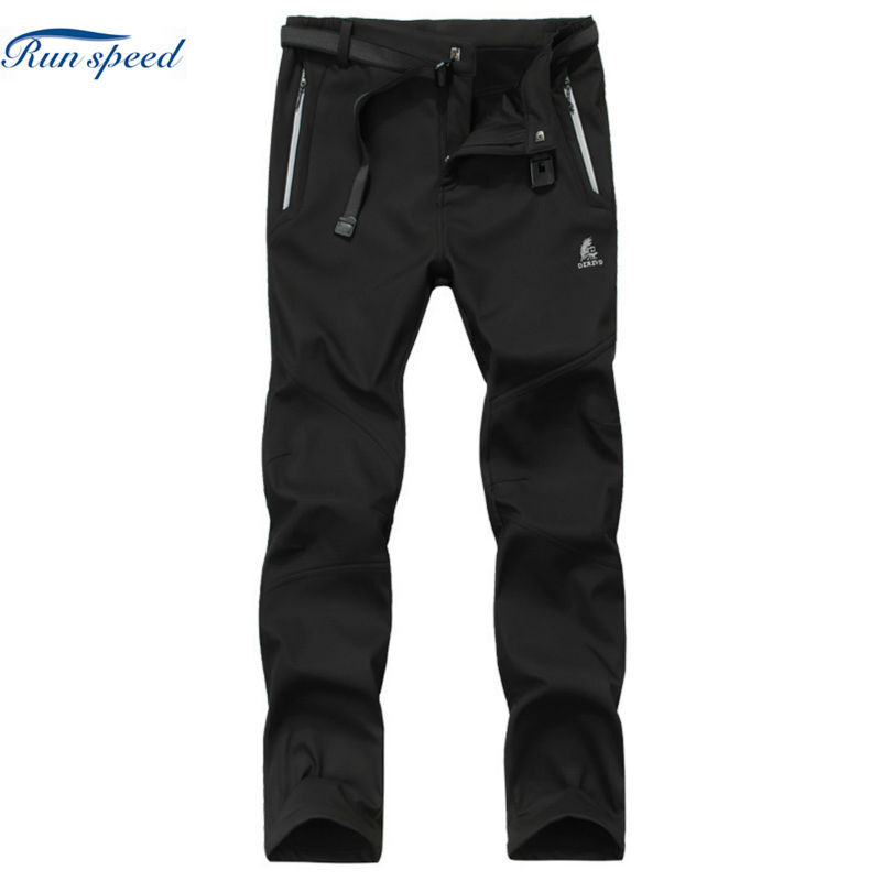 Softshell Pants Men Quick Dry Hiking Pants Autumn Winter Outdoor Removable Fishing Trousers Uv Protection Camping MCK024