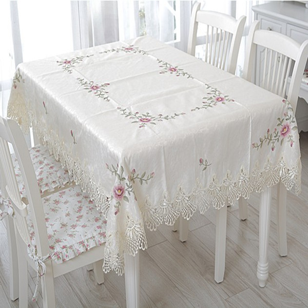 Tablecloth embroidery table cove table cloth 150 220cm 60 for Dining room table 90 inch