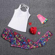 Women Yoga Sets Sport Suit Fitness Sport Wear Running Leggings Top T-shirt+Yoga Socks+Workout Gym Pants Lose Weight Sportswear(China)