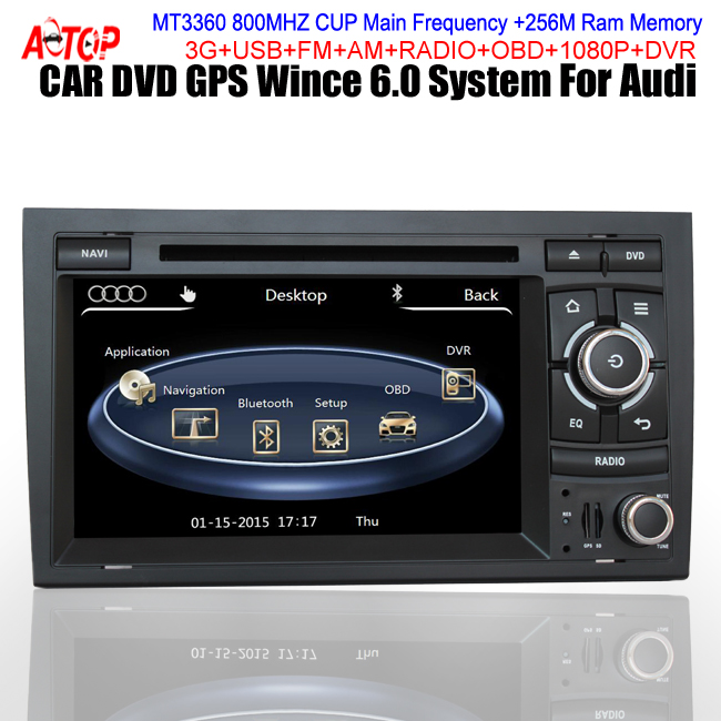 For Audi A4 S4 RS4 Seat Exeo Car CAR ENTERTAINMENT DVD PLAYER 800MHz CPU 256 RAM Capactive Touch Screen OBD USB SD Card 3D Flash(Hong Kong)