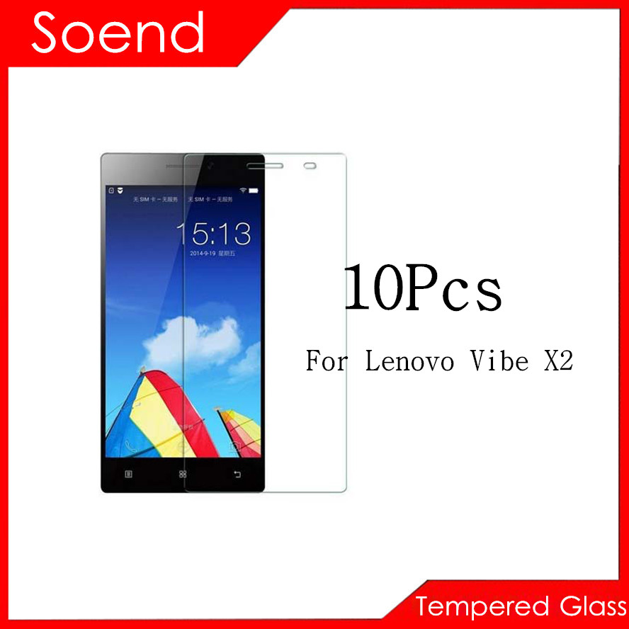 10Pcs/Lot Tempered Glass Screen Protector For Lenovo Vibe X2 Protection Cover Protective Guard Film 2