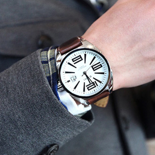 New !!! 2012 men's clothing watches disc digital pointer quartz watch male man watches