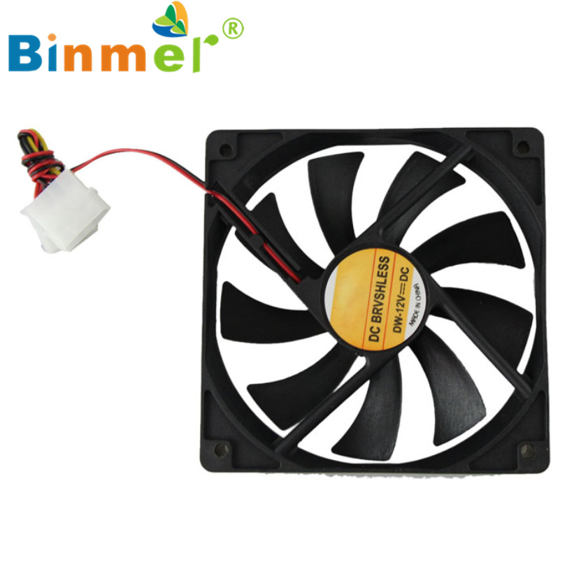 Hot-sale BINMER 120mm PC CPU Cooling Fan 12v 4 Pin Computer Case Cooler Connector For Computer 1 pc(China (Mainland))