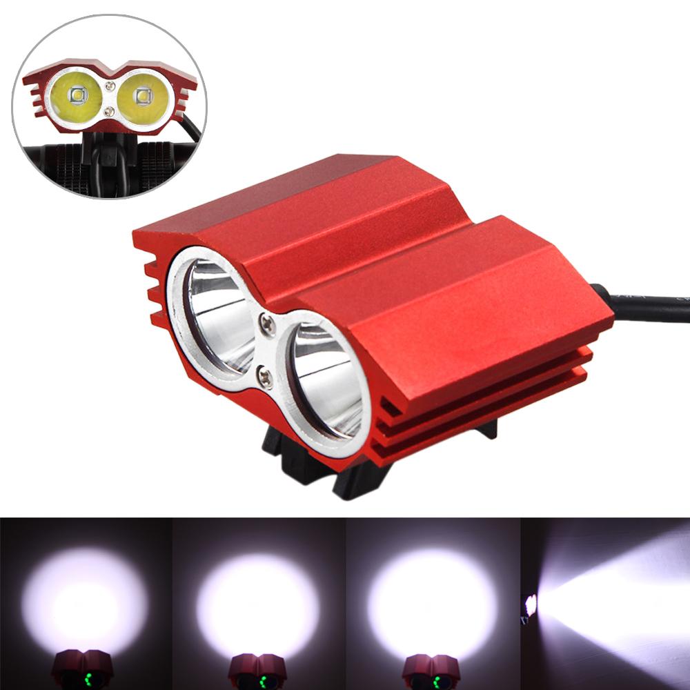 6000 LM 2x XML U2 LED Head Bike Bicycle HeadLamp Light Flashlight Hunting Torch
